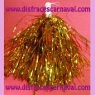 Pompon Metalizado Oro