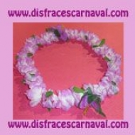Collar Hawai Flores Malvas
