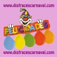 Cartel Felicidades + Globos