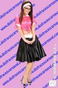 Falda Corte Capa Raso Negro