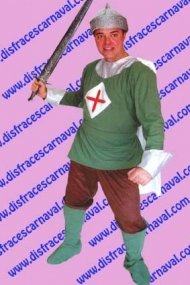 Caballero medieval Verde Cruzado
