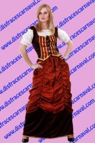 Campesina falda drapeada