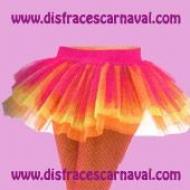 Tutu Faldita Tul Tricolor neon