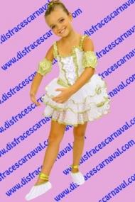 Bailarina Blanco y Oro