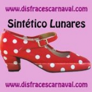 Zapato sevillana sintetico lunares hebilla