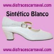 Zapato sevillana sintetico blanco hebilla