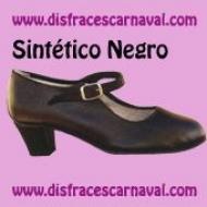 Zapato sevillana sintetico negro hebilla