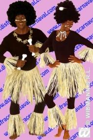 falda paja con manguitos indigena