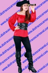 Corsaria Roja Pantalon