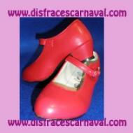 Zapato Rojo Tacon Hebilla