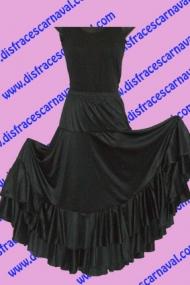 Falda Flamenco Negra 2 volantes