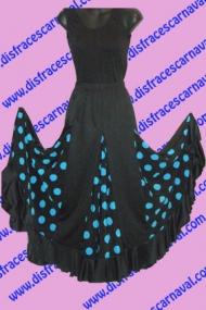 Falda Flamenco Nesgas Lunares Tq