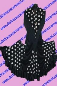 Falda Flamenco Nesgas Lunares Bl
