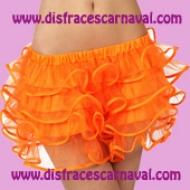 falda volantes naranja