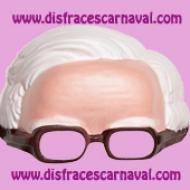 Media mascara abuelo gafas de Eva