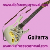 Guitarra Rock Blanca