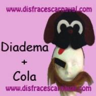 diadema de perro y cola