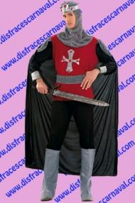 disfraz caballero medieval cruz en el pecho