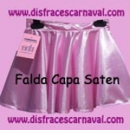 Falda Saten Corte capa