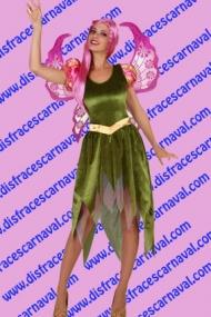 Elfa verde y rosa