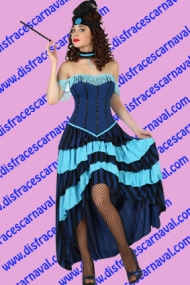 Chica de Saloon Azul