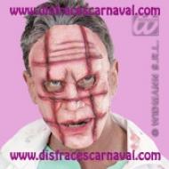 Rostro cicatrices cuadricula