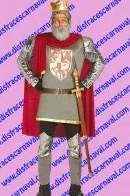 disfraz rey medieval armadura