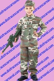 disfraz soldado comando niño