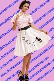 disfraz vestido años 50 grease