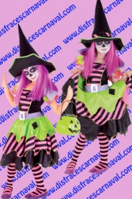 disfraz bruja halloween niña