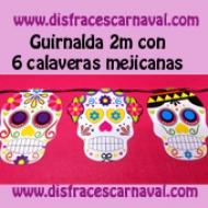 Guirnalda Calaveras mejicanas