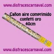 Cañon confetti oro 40cm