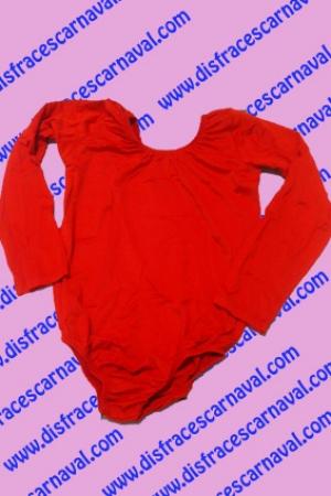 Malla Body Infantil Rojo manga larga