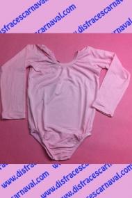Malla Body Infantil Rosa manga larga