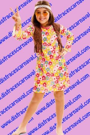 disfraz hippie vestido niña