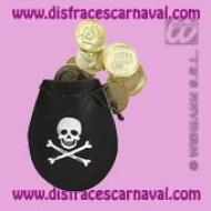 Bolsa monedas pirata
