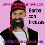 Barba negra con trenzas