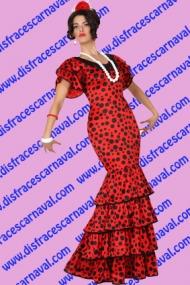 Flamenca rojo y negro