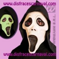 Scream goma brilla en la oscuridad