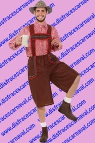 disfraz de Tiroles camisa cuadros