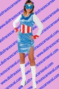 disfraz capitana america superheroina
