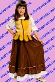 disfraz campesina chaleco amarillo