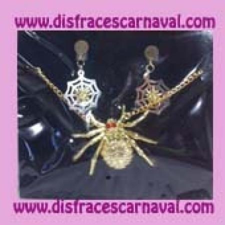 collar y pendientes arañas
