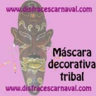 mascara decorativa tribal