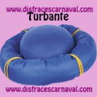 turbante de rey azul