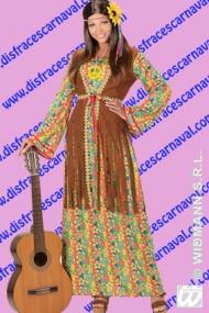 disfraz mujer hippie vestido largo