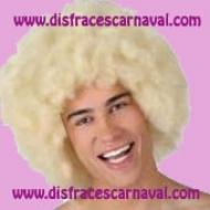 peluca afro rubia