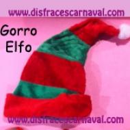 gorro duende navideño elfo
