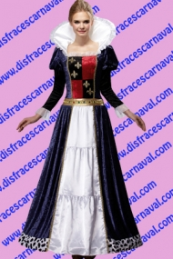 Disfraz Reina medieval adulto