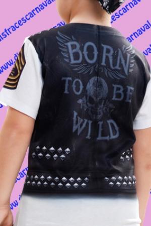 detallado imágenes detalladas recoger Camiseta motero rock - Disfraces CARNAVAL